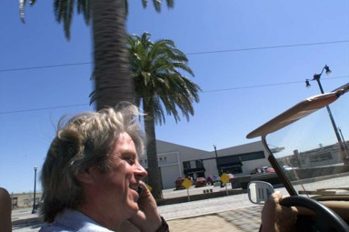 <p>FILE - Bill Fink, Morgan guru in the Bay Area talks to a customer as he cruises around San Francisco.</p>
